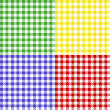 Tablecloth of squares Royalty Free Stock Photo