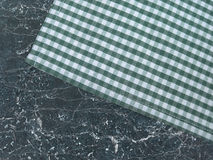 Tablecloth on a stone worktop Royalty Free Stock Photo