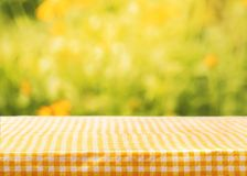 Tablecloth. Summer background outdoor beams leaves page Royalty Free Stock Images