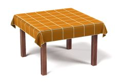 Tablecloth on table Royalty Free Stock Images