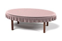 Tablecloth on table Stock Photos