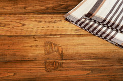 Tablecloth textile on  old rustic background Stock Image