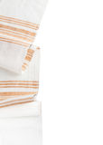 Tablecloth textile on white background Stock Images
