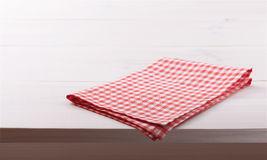 Tablecloth textile on white wooden background Royalty Free Stock Photo