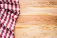 Tablecloth textile. On wooden background Stock Photography