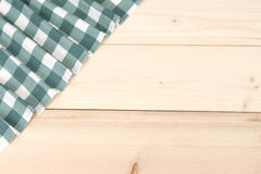 Tablecloth textile on wooden background Stock Photos