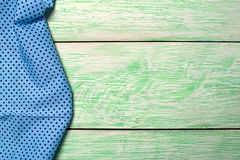 Tablecloth textile on wooden Stock Photo