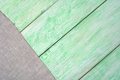 Tablecloth textile on wooden. Tablecloth gray textile on wooden green background stock photo