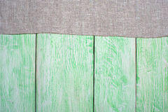 Tablecloth textile on wooden. Tablecloth gray textile on wooden green background royalty free stock photos