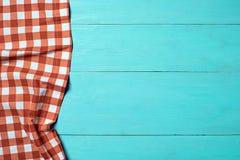 Tablecloth textile on wooden Stock Photos