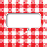 Tablecloth texture speech bubble Royalty Free Stock Image