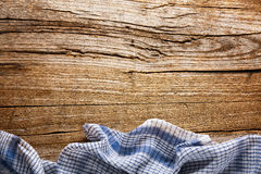 Tablecloth or towel on table Stock Images