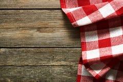 Tablecloth vermelho Foto de Stock Royalty Free