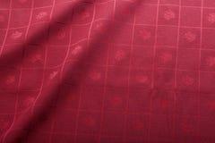 Tablecloth vermelho fotografia de stock royalty free