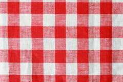 Tablecloth vermelho e branco fotos de stock royalty free