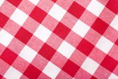 Tablecloth vermelho e branco imagem de stock