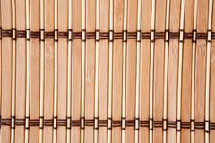 Tablecloth vertical bamboo slats Stock Images