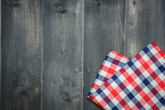 Tablecloth on wooden Stock Photography