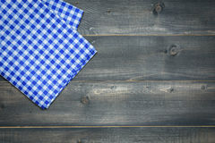Tablecloth on wooden Stock Photo