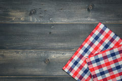 Tablecloth on wooden Stock Image