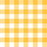 Tablecloth in yellow with Checkered design Stock Images