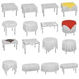 Tableclothes set Royalty Free Stock Images