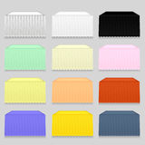 Tableclothes. Set of Colorful Tableclothes Isolated on Grey Background Stock Photos