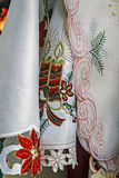 Tablecloths for Christmas dinner party-2 Royalty Free Stock Photography