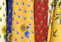 Tablecloths de France Foto de Stock Royalty Free