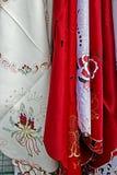 Tablecloths dla Bożenarodzeniowego gościa restauracji party-3 Fotografia Stock