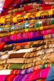 Tablecloths handmade coloridos do blankets& Imagens de Stock