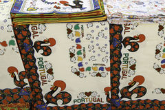 Tablecloths from Portugal. Detail of a typical product Portugues Stock Photos