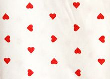 Tablecloths with red heart shape Royalty Free Stock Images