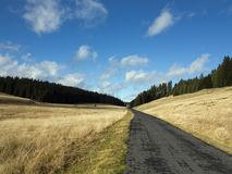 Tableland with road Stock Photography