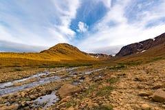 Tablelands Gros Morne park narodowy, wodołaz obraz royalty free