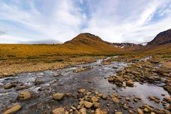 Tablelands Gros Morne park narodowy, wodołaz obrazy stock