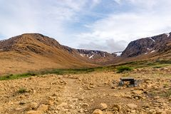 Tablelands Gros Morne park narodowy, wodołaz fotografia royalty free