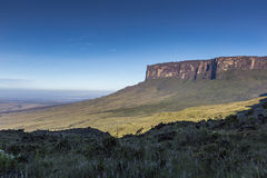 Tablemountain Roraima with clouds, Venezuela, Latin America. Royalty Free Stock Photos