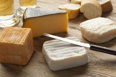 Tablero belga del queso imágenes de archivo libres de regalías