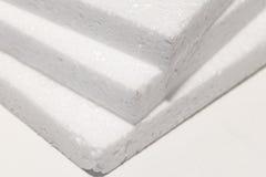 Tablero blanco de la espuma fotografía de archivo