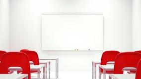 Tablero blanco de la sala de reunión Fotografía de archivo libre de regalías