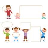 Tablero blanco y niños Foto de archivo libre de regalías