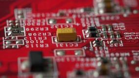 Tablero con los microprocesadores metrajes