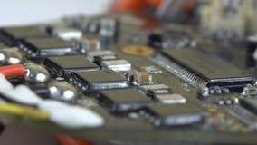 Tablero dañado con los microprocesadores almacen de video