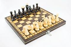 Tablero de ajedrez antes de la batalla Foto de archivo