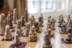 Tablero de ajedrez antiguo Fotos de archivo
