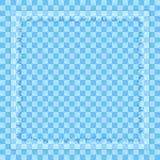 Tablero de ajedrez azul del fondo con el marco abstracto rasgado cuadrado Imagen de archivo