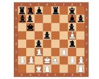 Tablero de ajedrez con las figuras Fotos de archivo libres de regalías