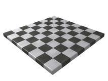Tablero de ajedrez de mármol (visión de la esquina) Foto de archivo