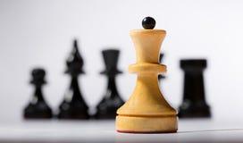 Tablero de ajedrez de madera Foto de archivo libre de regalías